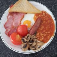 Full English Breakfast at Sonachan House Paignton Devon